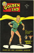 Golden Age (1938-1955):Superhero, Golden Lad #1 Mile High pedigree (Spark Publications, 1945) Condition: Qualified NM. A look at this solid black cover alread...