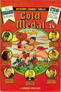Golden Age (1938-1955):Miscellaneous, Gold Medal Comics #nn Mile High pedigree (Cambridge House, 1945) Condition: NM-. We hadn't encountered this one-shot before!...