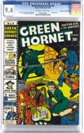 Golden Age (1938-1955):Superhero, Green Hornet Comics #8 Mile High pedigree (Harvey, 1942) CGC NM 9.4 Off-white pages. There can't be too many copies of this ...