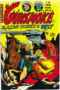 Gunsmoke #6 Mile High pedigree (Western, 1950) Condition: NM-. Graham Ingels supplied this issue's cover art. Overstreet...