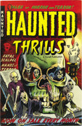 Golden Age (1938-1955):Horror, Haunted Thrills #5 Mile High pedigree (Farrell, 1953) Condition:VF/NM. A skull cover (multiple skulls actually) and genre-t...