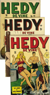 Hedy Devine Comics #22-26 Mile High pedigree Group (Marvel, 1947-48). The first appearance of the glamorous Hedy in #22...