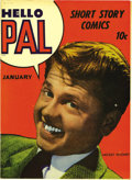 Golden Age (1938-1955):Humor, Hello Pal #1 Mile High pedigree (Harvey, 1943) Condition: VF/NM. Mickey Rooney has never looked better than on this super-fr...