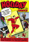 Golden Age (1938-1955):Superhero, Holiday Comics #1 Mile High pedigree (Fawcett, 1942) Condition: Apparent VF/NM. This copy looks as if it has never been open...
