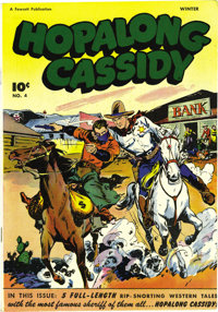 Hopalong Cassidy #4 Mile High pedigree (Fawcett, 1946) Condition: NM-. This copy's pure white back cover and the white i...