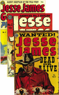 Golden Age (1938-1955):Western, Jesse James #2, 5, and 6 Group - Mile High pedigree (Avon, 1950-52)Condition: NM-. Issues #5 and 6 are Mile High copies, an... (Total:3 Comic Books)