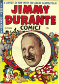 Golden Age (1938-1955):Humor, Jimmy Durante #1 Mile High pedigree (Magazine Enterprises, 1948) Condition: NM. The Schnoz is drawn by none other than Dick ...