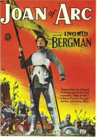Joan of Arc #nn (Magazine Enterprises, 1949) Condition: NM. Photos featuring Ingrid Bergman as the Maid of Orleans grace...