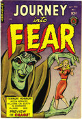 Golden Age (1938-1955):Horror, Journey Into Fear #1 (Superior, 1951) Condition: VF-. This is thedebut issue of a pre-Code horror series that was printed i...