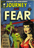 "Golden Age (1938-1955):Horror, Journey Into Fear #2 (Superior, 1951) Condition: VF/NM. Thispre-Code horror book boasts a ""headlight"" cover and what Overst..."