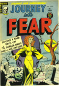 "Golden Age (1938-1955):Horror, Journey Into Fear #5 (Superior, 1952) Condition: NM-. This pre-Codehorror book leads off with the story ""So Cold A Tomb,"" w..."
