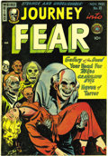 Golden Age (1938-1955):Horror, Journey Into Fear #10 (Superior, 1952) Condition: VF/NM. The leadstory of this pre-Code horror book features a guillotine, ...
