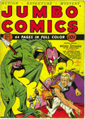 Golden Age (1938-1955):Science Fiction, Jumbo Comics #10 (Fiction House, 1939) Condition: FN+. This was thefirst normal-sized issue of Jumbo, which had gotten ...