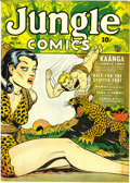 Golden Age (1938-1955):Adventure, Jungle Comics #34 (Fiction House, 1942) Condition: NM-. Dan Zolnerowich provided the cover art, featuring Kaanga. This speci...