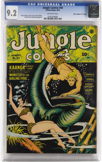 "Jungle Comics #44 Davis Crippen (""D"" Copy) pedigree (Fiction House, 1943) CGC NM- 9.2 Off-white pages. George..."