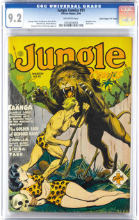 "Jungle Comics #51 Davis Crippen (""D"" Copy) pedigree (Fiction House, 1944) CGC NM- 9.2 Off-white pages. George..."