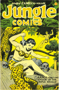 Jungle Comics #66 Mile High pedigree (Fiction House, 1945) Condition: NM. We had never seen this one in high grade befor...