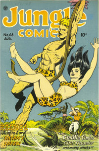 Jungle Comics #68 Mile High pedigree (Fiction House, 1945) Condition: NM+. Have a look at this copy's spine and edges an...