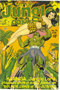 Golden Age (1938-1955):Adventure, Jungle Comics #74 Mile High pedigree (Fiction House, 1946) Condition: NM. There's Matt Baker art inside and a bondage cover ...