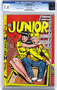 Junior #16 (Fox Features Syndicate, 1948) CGC FN/VF 7.0 Off-white pages. This great cover by Al Feldstein adorns what is...