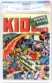 "Kid Komics #4 Davis Crippen (""D"" Copy) pedigree (Timely, 1944) CGC VF+ 8.5 Off-white to white pages. A machine..."