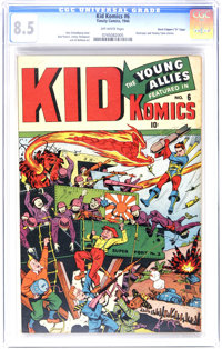 "Kid Komics #6 Davis Crippen (""D"" Copy) pedigree (Timely, 1944) CGC VF+ 8.5 Off-white pages. We think this one..."