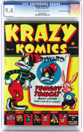 Golden Age (1938-1955):Funny Animal, Krazy Komics #2 Mile High pedigree (Timely, 1942) CGC NM 9.4Off-white to white pages. This is just the second issue of Time...