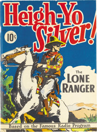 Large Feature Comic (Series I) #3 Heigh-Yo Silver! The Lone Ranger - Mile High pedigree (Dell, 1938) Condition: VF+. Rob...
