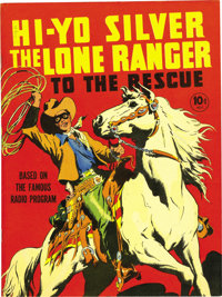 Large Feature Comic (Series I) #7 Hi Yo Silver The Lone Ranger To The Rescue - Mile High pedigree (Dell, 1939) Condition...