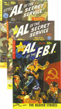Golden Age (1938-1955):Adventure, Little Al of the Secret Service #10 (#1), 2, and 3 Mile High pedigree Group (Ziff-Davis, 1951). We present the full run of t... (Total: 3 Comic Books)