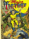 Golden Age (1938-1955):Superhero, Major Victory #1 Mile High pedigree (H. Clay Glover Company, 1944) Condition: NM-. We love this cover! The issue has the ori...