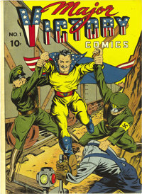 Major Victory #1 Mile High pedigree (H. Clay Glover Company, 1944) Condition: NM-. We love this cover! The issue has the...