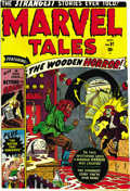 "Golden Age (1938-1955):Horror, Marvel Tales #97 (Atlas, 1950) Condition: VF/NM. Horror/mysterytales dominate this pre-Code issue -- Overstreet notes, ""one..."
