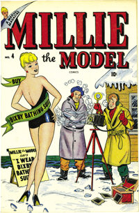 Millie the Model #4 Mile High pedigree (Marvel, 1947) Condition: NM+. This is an amazing copy of a book we had never see...