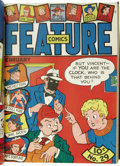 Golden Age (1938-1955):Miscellaneous, Feature Funnies and Feature Comics Bound Volumes Group (Quality, 1938-44). This lot consists of five volumes containing issu... (Total: 5 Items)