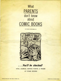 What Parents Don't Know About Comic Books (Baptist General Convention of Texas, 1953) Condition: VG+. This rare large-si...