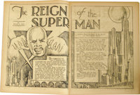 "Jerry Siegel and Joe Shuster - ""Reign of the Superman"" -- Science Fiction Fanzine V1#3 And Others (1933). Appe..."