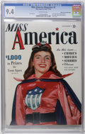 Golden Age (1938-1955):Superhero, Miss America Magazine V1#2 Mile High pedigree (Timely, 1944) CGC NM 9.4 Off-white pages. It takes a lot to stand out in a ca...