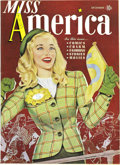Golden Age (1938-1955):Non-Fiction, Miss America Magazine V1#3 Mile High pedigree (Timely, 1944)Condition: NM-. These comics are delightful, and we almost...