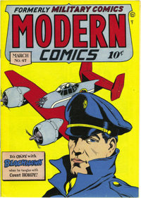 Modern Comics #47 Mile High pedigree (Quality, 1946) Condition: VF/NM. This copy's got an indentation through the whole...