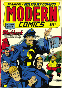 Modern Comics #54 Mile High pedigree (Quality, 1946) Condition: NM-. A Torchy backup feature by Bill Ward complements th...