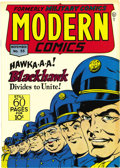 Golden Age (1938-1955):War, Modern Comics #55 Mile High pedigree (Quality, 1946) Condition: NM+. In addition to the adventures of Blackhawk, this issue ...