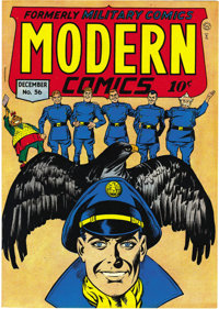 Modern Comics #56 Mile High pedigree (Quality, 1946) Condition: NM. Holding an Edgar Church copy (very carefully) is a t...