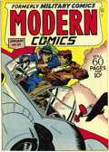 Golden Age (1938-1955):War, Modern Comics #57 Mile High pedigree (Quality, 1947) Condition: VF/NM. Blackhawk is joined by Torchy, Dogtag, Ezra, and othe...