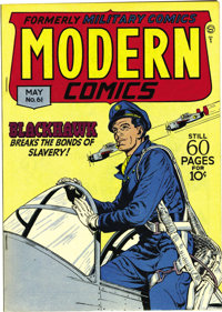 Modern Comics #61 Mile High pedigree (Quality, 1947) Condition: NM. Blackhawk is backed up by Torchy (with Bill Ward art...