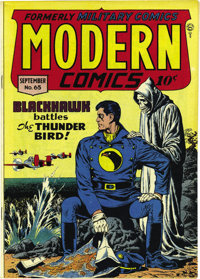 Modern Comics #65 Mile High pedigree (Quality, 1947) Condition: NM-. The Blackhawks and Torchy are featured here. Overst...