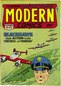 Golden Age (1938-1955):War, Modern Comics #66 Mile High pedigree (Quality, 1947) Condition: NM. The Blackhawk team is backed up by sexy Torchy and teen ...