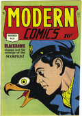 Golden Age (1938-1955):Adventure, Modern Comics #91 Mile High pedigree (Quality, 1949) Condition: NM. The international heroics of Blackhawk,the sultriness of...