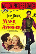 Golden Age (1938-1955):Miscellaneous, Motion Picture Comics #108 Mask of the Avenger - Mile High pedigree (Fawcett, 1952) Condition: NM-. John Derek was nothing i...