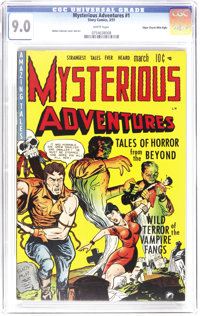 Mysterious Adventures #1 Mile High pedigree (Story Comics, 1951) CGC VF/NM 9.0 White pages. This all horror issue has ev...